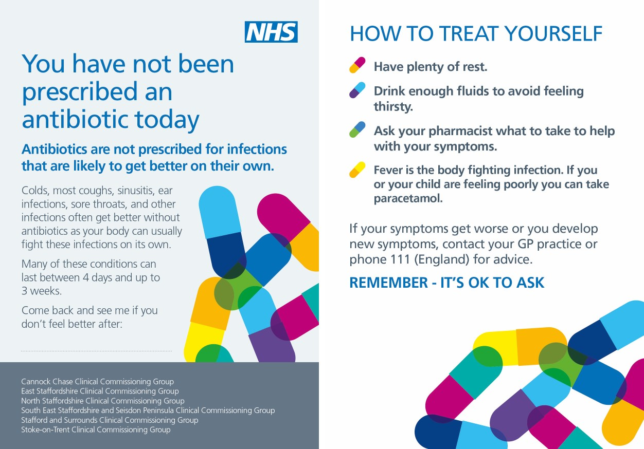 Antibiotic Postcard 2 sides image