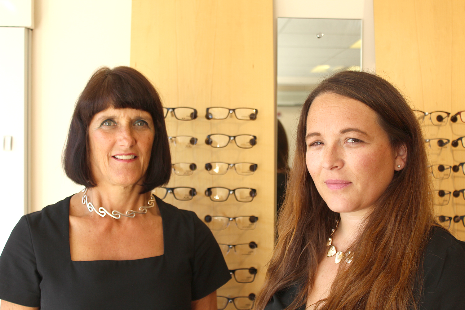 Optometrist Gina Larkin left and Claire Meehan 2